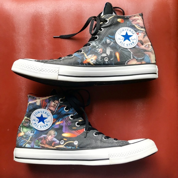 10faecf4525243 Converse Other - Dc Justice League Converse Chuck Taylor high tops